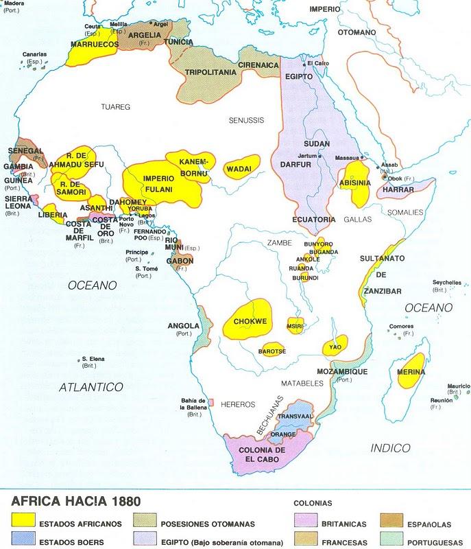África, antes de 1880