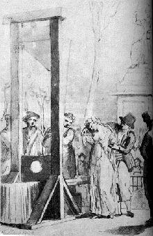 Olympe en la guillotina