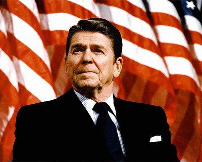 El Presidente de Estados Unidos, Ronald Reagan