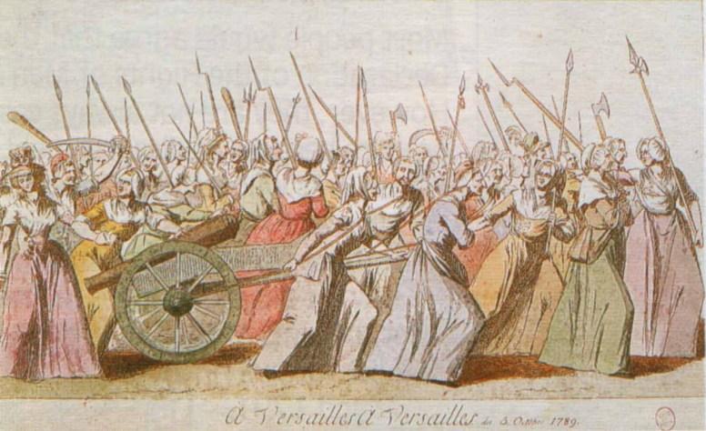 Ilustración de la actuación de la mujer en la Revolución Francesa
